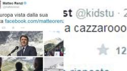 Renzi twitta dalle Alpi e il web ricambia con una montagna di