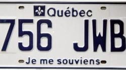 Les plaques d'immatriculation au Québec, une longue