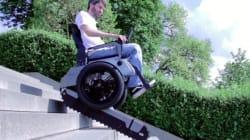 Des étudiants inventent un fauteuil roulant qui monte les