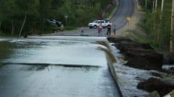 Un barrage cède à Saint-Raymond dans