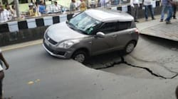 A Sinkhole Just Opened Up In The Middle Of A Busy Chennai