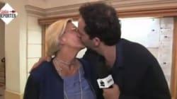 Isabelle Balkany embrasse un journaliste de Canal
