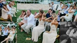 Wedding Guests Cover Their Ears In A Sweet Act Of