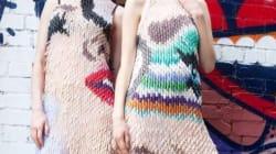 Elle crée des robes faites entièrement en faux