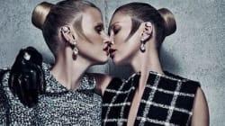 Kate Moss et Lara Stone (très) proches pour