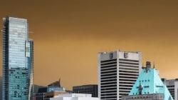 Un ciel de fin du monde à Vancouver