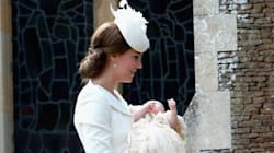The Duchess Is A Vision In White At Princess Charlotte's
