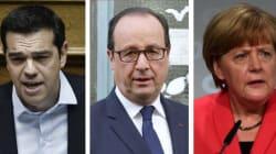 Coincé entre Merkel et Tsipras, Hollande cherche la bonne