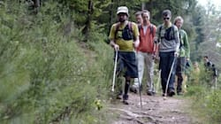 These Hikers Didn't Let Blindness Stop Them From Crossing