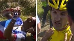 Cancellara et une vingtaine de coureurs du Tour chutent lourdement et provoquent un arrêt du
