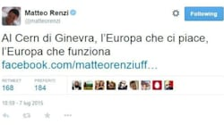 Renzi al Cern di Ginevra: