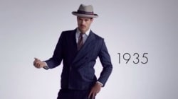 Voyez 100 ans de mode masculine