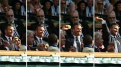 David Beckham rattrape une balle en plein vol et tout Wimbledon