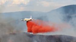 Water Bomber Fighting B.C. Wildfire
