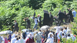Cible de jets de pierre, le premier ministre serbe fuit les