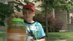 Ce Sherbrookois de neuf ans travaillera tout l'été