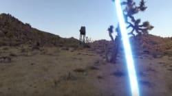 Quand un Jedi se bat avec une