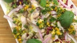 Vite fait, bien fait: Méli mélo de salade et dorade, sauce