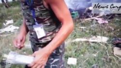 Une vidéo montre le pillage de l'épave du MH17 par des