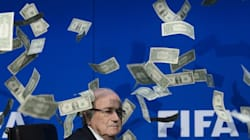 Here's The Moment Sepp Blatter Got Thrown A Fistful Of