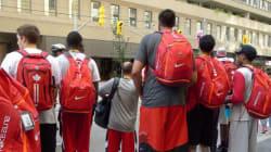 Canadian Men's Basketball Team Improvises After Bus Breaks