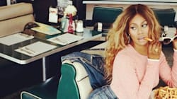 Laverne Cox Makes Fry-Eating