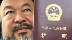 La Chine a rendu son passeport à l'artiste chinois Ai