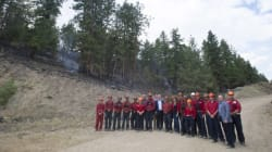 Prime Minister Visits Crews Battling West Kelowna