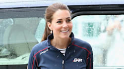 Kate Middleton Goes Sporty Chic For First Public Outing Since Princess Charlotte's