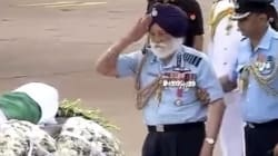 Watch The 96 Year Old Indian Air Force Marshal Pay His Last Respects To Dr