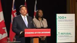Le gouvernement ontarien veut défaire le gouvernement Harper