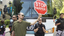 Anti-Harper Protesters Crash Rally, 1 Man
