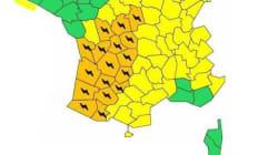 Orages: 17 départements en vigilance