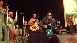 Lenny Kravitz Lets It All Hang Out After Pants Split On Stage