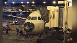 Grosse frayeur pour les passagers de cet avion pris dans une tempête de