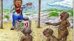 M5s attacca il Pd sull'immigrazione, ma sulla vignetta è