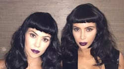 Here's Kim And Kourtney Kardashian Looking All Goth And