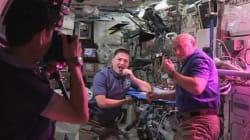 Des astronautes de l'ISS ont mangé la première salade de