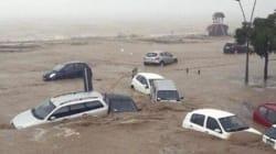 Nubifragio in Calabria, auto trascinate in mare dal
