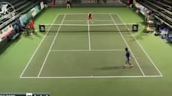 Regardez ce point hallucinant d'un tennisman