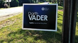 Darth Vader Parody Election Sign Sprouts Up In This