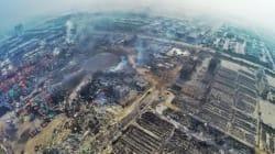 天津爆発、ドローンがとらえた街は廃墟と化していた(動画)