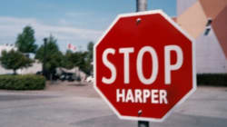 'Stop Harper' Sign Removal Plagues B.C.