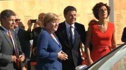 Angela Merkel all'Expo con Matteo Renzi