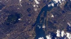 En direct de l'espace, il prend Montréal en