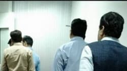 'Aam Aadmi' Neta: Nitin Gadkari Spotted Waiting In Queue To Board