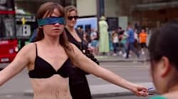 Woman Undresses In Public For A Courageous