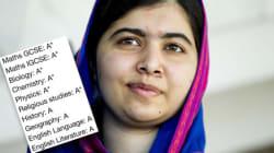 Malala a reçu son bulletin de notes, et il est