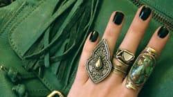 Ongles : le vert émeraude parfait pour l'automne