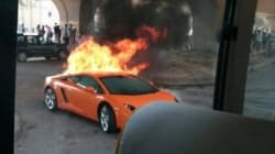 What Happens When A Lamborghini Gallardo Catches Fire In New